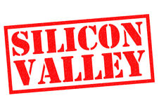 SILICON VALLEY. Red Rubber Stamp over a white background Royalty Free Stock Photos