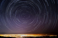 Silicon Valley Star Trails stock photography