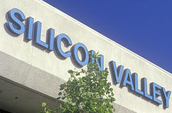 Silicon Valley teknologimitt i San Jose, Kalifornien fotografering för bildbyråer