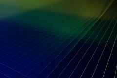 Silicon wafer 3d render. Illustration Stock Photo