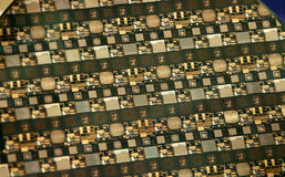 Silicon wafer Royalty Free Stock Images