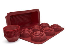Silicone bakeware set. Stock Photos