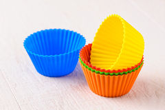 Silicone baking cup Stock Photography
