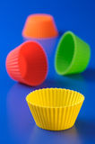 Silicone baking cup Royalty Free Stock Photos