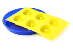 Silicone cake cups Stock Image