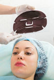 Silicone cosmetic facial mask Stock Image