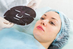 Silicone cosmetic facial mask Stock Photography