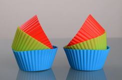 Silicone cups for muffins Royalty Free Stock Images