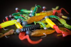 Silicone lures Royalty Free Stock Images