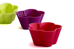 Silicone muffin baking dishes Stock Images