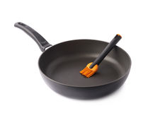 Silicone oil brush in a pan isolated Stock Photography