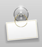Silicone suction cup with badge Royalty Free Stock Photos