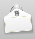 Silicone suction cup with badge Stock Photography