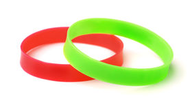 Silicone Wristbands Stock Photos
