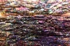 Silikon-Karbid - Regenbogen Mineral-macrophotography lizenzfreies stockfoto