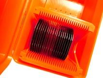 Silikonoblaten in einer Fördermaschine Stockfotos