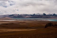 Siling Lake in Tibet. Siling Lake and mountain in Tibet, China Stock Photography