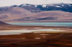 Siling Lake in Tibet. Siling Lake and mountain in Tibet, China Stock Image