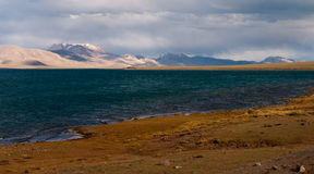 Siling Lake in Tibet. Siling Lake and mountain in Tibet, China. Siling Lake is a lake in the Tibet Autonomous Region, to the north of Xainza. Doijiang is located royalty free stock images
