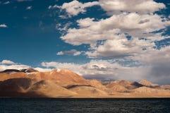 Siling Lake in Tibet. Siling Lake and mountain in Tibet, China Stock Photos