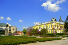 Silistra suaqre view,Bulgaria. Silistra town central square,Bulgaria.Silistra is a port city on the Danube river shore in northeastern Bulgaria Royalty Free Stock Photos