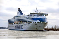 Silja Line Ferry arrives in Helsinki Stock Images