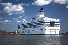 Silja Line ferry. The Silja Line ferry sails from port of Helsinki on April 20, 2013 royalty free stock photography