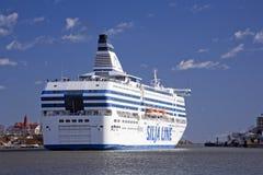 Silja Line ferry. The Silja Line ferry sails from port of Helsinki on April 20, 2013 stock photography
