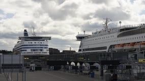 Silja Line. Terminal and boat Silja Line in the Stockholm Stock Photo