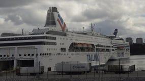 Silja Line. Terminal and boat Silja Line in the Stockholm Stock Image