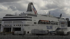 Silja Line. Terminal and boat Silja Line in the Stockholm Royalty Free Stock Images