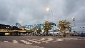 Silja Line. Terminal and boat Silja Line in the Turku Stock Image