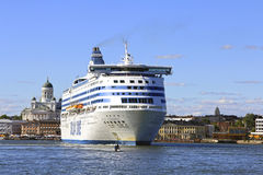 Silja Symphony Cruise Ferry Departs Helsinki royalty free stock images