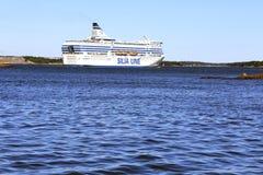 Silja Symphony Cruise Ferry e mare blu Fotografia Stock