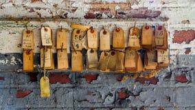 Silk бирки продукции мельницы Стоковые Фото