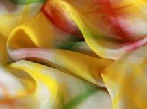 Silk предпосылка в горячих цветах Стоковые Изображения