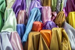 Silk ткань в красочной концепции стоковые фотографии rf