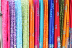 Silk. On sale, colorful Royalty Free Stock Photos