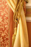 Silk. Background of colored silk. Gold Stock Photography