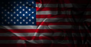 Silk American Flag. American flag with silk texture. High resolution and very realistic, created in Photoshop Royalty Free Stock Photos