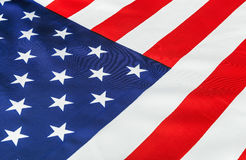 Silk American flag Close-up Stock Photography