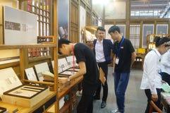 Silk art exhibition sales Stock Photos
