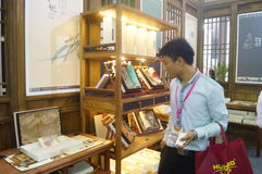 Silk art exhibition sales Royalty Free Stock Image