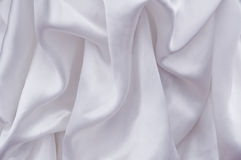 Silk background. White silk background, wedding dress Royalty Free Stock Photography