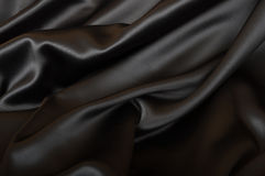 Silk Background. Black Texture - Dark Wavy Glossy Silk Drapery stock photos