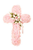Silk begravnings- blom- ordning arkivfoto