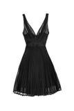 Silk black dress. Isolated on white background royalty free stock image