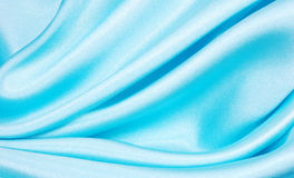 Silk blue background. Silk background, material pattern , close up Stock Photo