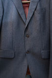Silk blue jacket with stripes Royalty Free Stock Photography
