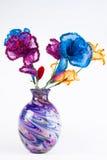 Silk Blumenvorbereitungen Stockfoto